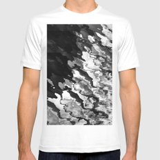Wired MEDIUM Mens Fitted Tee White