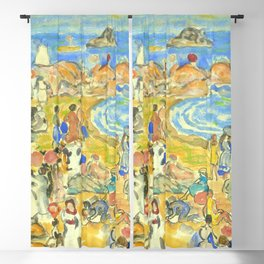 """Maurice Prendergast """"View Along New England Coast"""" Blackout Curtain"""