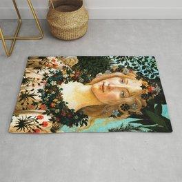 "Sandro Botticelli ""Spring"" Flora (2) Rug"