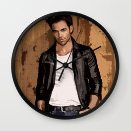 Chris Pine 2 Wall Clock