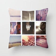 resonances collage Throw Pillow