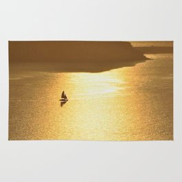 Sailing on a Golden Sea Rug