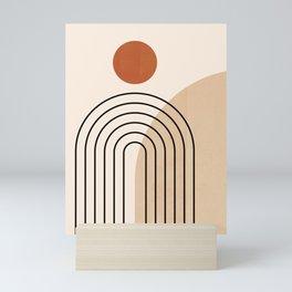 Abstraction_NEW_SUN_DAWN_MOUNTAINS_LINE_POP_ART_008B Mini Art Print