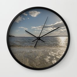 Cold Beach Day Wall Clock