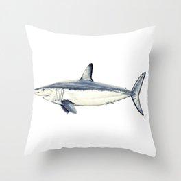 Mako shark (Isurus oxyrinchus) Throw Pillow