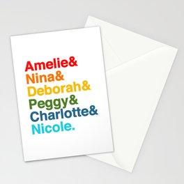Female Djs  Queens. Amelie, Nina, Deborah, Peggy, Nicole. Stationery Cards