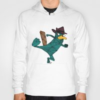 platypus Hoodies featuring My Perry the Platypus by TheCore