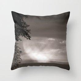Rainy Plain Throw Pillow