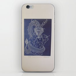 Draco constrictor (negative) iPhone Skin
