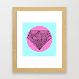 Crystaline in circle II Framed Art Print