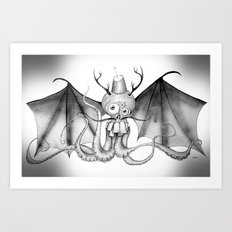 MonoChro-Monster Art Print