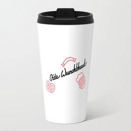 Oide Wurschthaut black Travel Mug