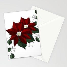 Nochebuena Poinsettia Stationery Cards