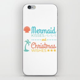 Mermaid Kisses and Christmas Wishes iPhone Skin