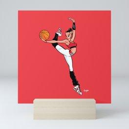 CoolNoodle with Jordan6 Carmine Mini Art Print