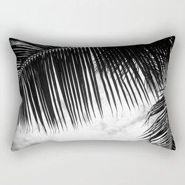 maui paradise palms hawaii monochrome Rectangular Pillow