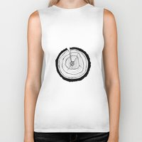 tree rings Biker Tanks featuring Tree Rings by Kristy Ann