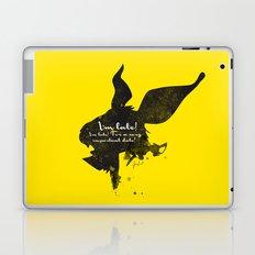 I'm late! – White Rabbit Silhouette Quote Laptop & iPad Skin