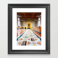 Old Ticketing Hall - Union Station - LA | HDR Framed Art Print