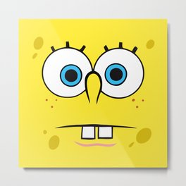 Spongebob Surprised Face Metal Print