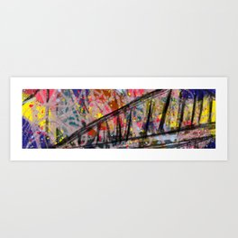 Ride with the mob Art Print