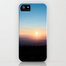 Sunrise in the Harz mountains iPhone Case