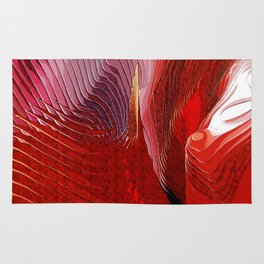 Abstract red shapes Rug