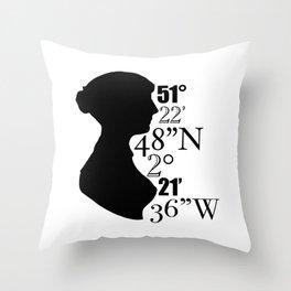 B A T H - JANE AUSTEN Throw Pillow