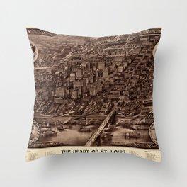 St. Louis 1907 Sepia Throw Pillow