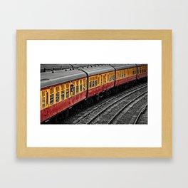 Waiting For A Train Framed Art Print