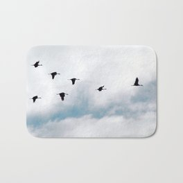 """Flock"" Bird Art by Murray Bolesta Bath Mat"