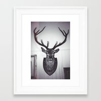 antlers Framed Art Prints featuring Antlers  by Mark Spence