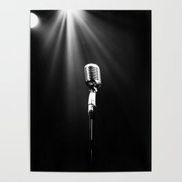 Classic Microphone Poster