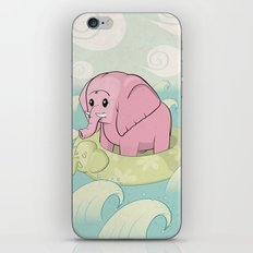 Elephant Across the Sea iPhone & iPod Skin