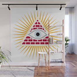 Freemasonic eye Wall Mural