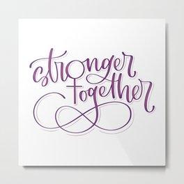 Stronger Together - Purple Metal Print