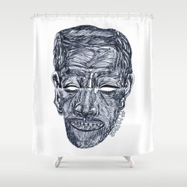 """«20120117» or """"Anywhere Face"""" Shower Curtain"""