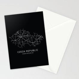 Czech Republic Road Map Stationery Cards