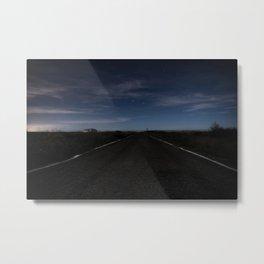 Road Night Metal Print