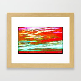 Life is colorful Framed Art Print