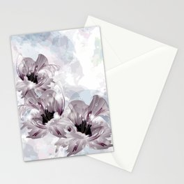 Artistic Flowers Stationery Cards