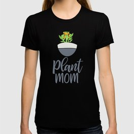 Potted Kalanchoe Plant Mom Pattern T-shirt