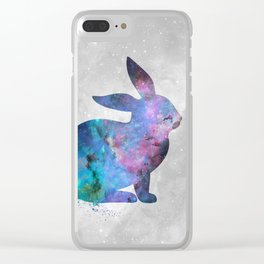 Galaxy Series (Rabbit) Clear iPhone Case