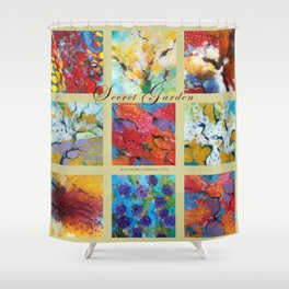 Secret garden composition Shower Curtain
