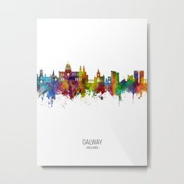 Galway Ireland Skyline Metal Print
