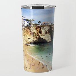 Praia de Carvoeiro, Algarve, Portugal - Deep blue waters Travel Mug