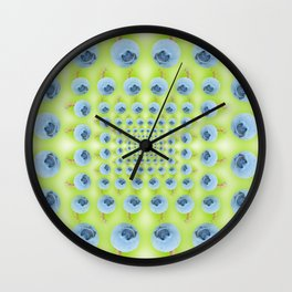 Pattern of fresh blueberries Wall Clock