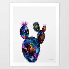 Galactic Cactus Art Print