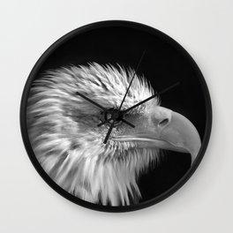Majestic Bald Eagle Wall Clock