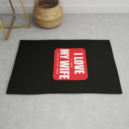 Funny Poker Gift Love It When My Wife Lets Me Play Rug
